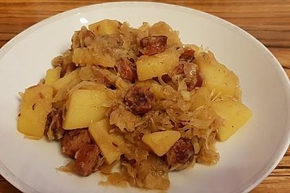 Bratwurst-Sauerkraut-Pfanne 8