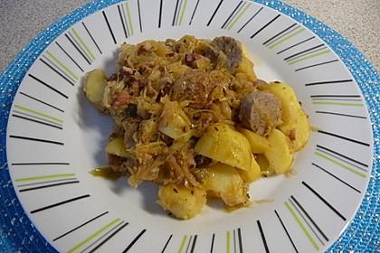 Bratwurst-Sauerkraut-Pfanne 7