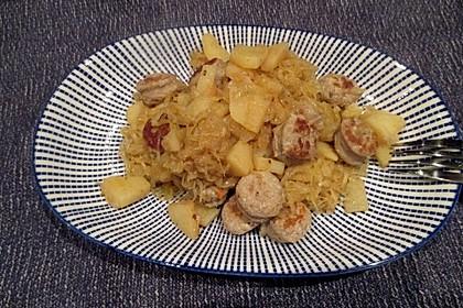 Bratwurst-Sauerkraut-Pfanne 3