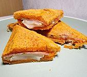Gegrillter Käse - Sandwich mit Speck und Birne (Bild)