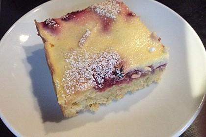 Beerenkuchen mit Sauerrahm - Guss