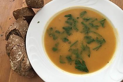 Süßkartoffelsuppe mit Ingwer 5