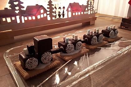 Lokomotive aus Dominosteinen 3
