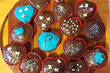 Schoko - Frischkäse Muffins 12