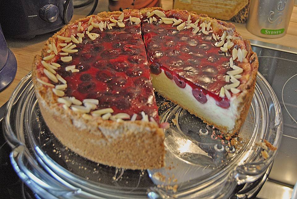 Quench Schmand Kuchen Mit Kirschen Von Ankahat Chefkoch De