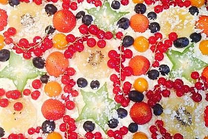 Früchtepizza für den Kindergeburtstag 2