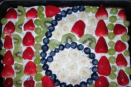 Früchtepizza für den Kindergeburtstag 1