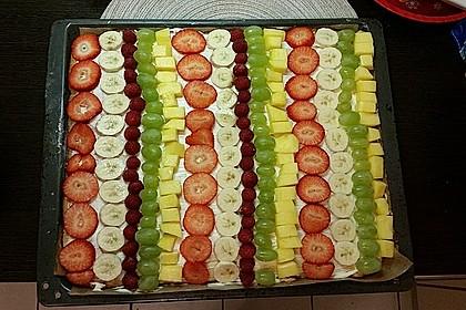 Früchtepizza für den Kindergeburtstag