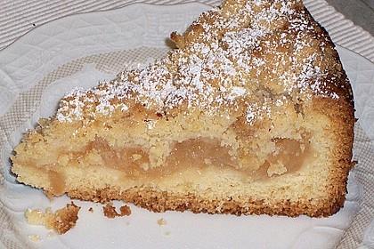 Apfel - Wein - Kuchen mit  Vanillepudding und Streuseln 3