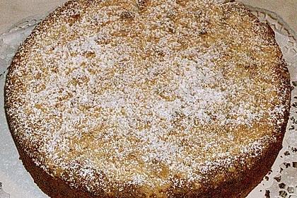 Apfel - Wein - Kuchen mit  Vanillepudding und Streuseln 1