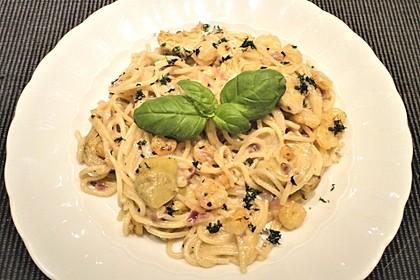 Arti (-geschockte) Pasta mit Garnelen 2