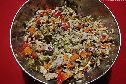 Reissalat mit Hähnchenfleisch und Brokkoli 1