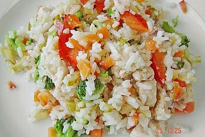 Reissalat mit Hähnchenfleisch und Brokkoli 6