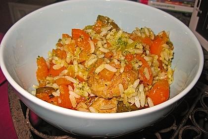 Reissalat mit Hähnchenfleisch und Brokkoli 4