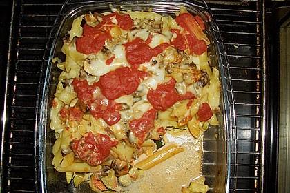 Nudelauflauf mit Zucchini, Karotten und Pilzen 1