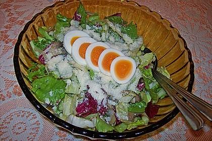 Gemischter grüner Salat mit Walnüssen und Parmesan 16