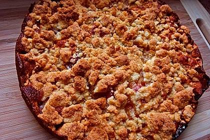 Apfel- oder Pflaumenstreuselkuchen (Bild)