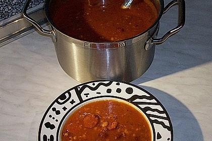 Tomaten - Bohnensuppe, serbisch