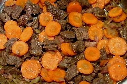 Deftige Kartoffelsuppe mit Klünkerle und Fleisch 3
