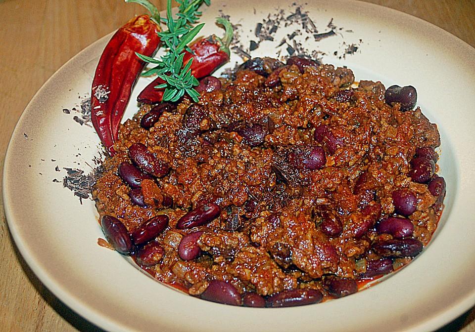 Chili Con Carne Mit Zartbitter Schokolade Von Twinkle30 Chefkochde