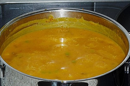 Kürbissuppe mit Krümel - Hack und Buttergemüse 7