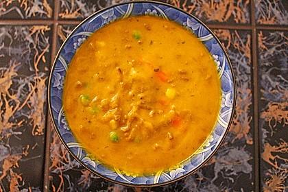 Kürbissuppe mit Krümel - Hack und Buttergemüse