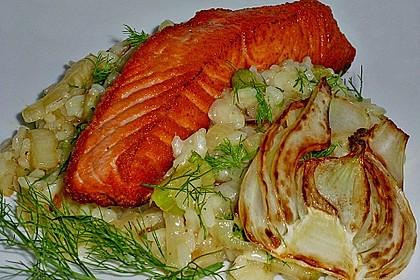 Fenchelrisotto mit Lachs 1