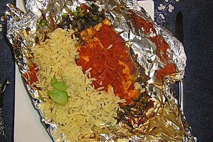 Tomatenmark - Kräuter Fisch in Alufolie 1
