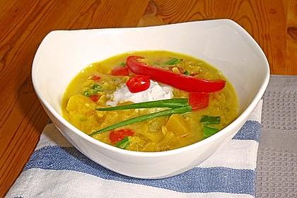 Kürbis - Kokos - Suppe mit roten Linsen 4