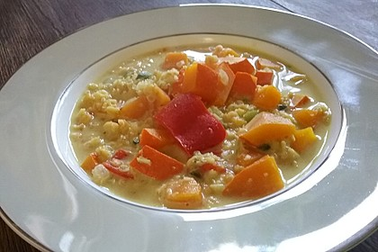 Kürbis - Kokos - Suppe mit roten Linsen 16