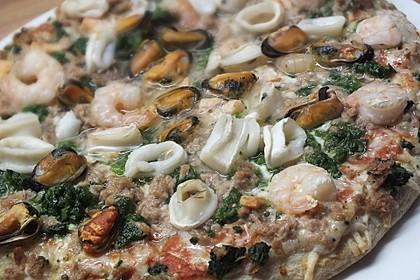 Meeresfrüchte - Pizza