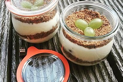 Dessert mit Weintrauben (Bild)
