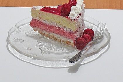 Himbeer - Kokos Wintertraum - Torte 5