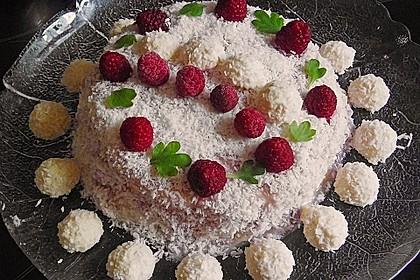 Himbeer - Kokos Wintertraum - Torte 2