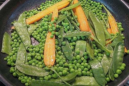 Straußensteaks mit Gemüsevariation in Bananensauce 2