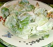 Kopfsalat mit süßem Joghurt - Dressing (Bild)