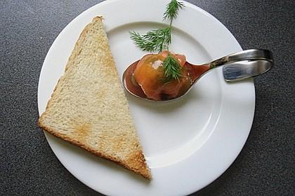 Lachspralinen mit Honig - Dill - Sauce 10
