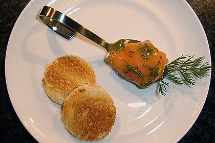 Lachspralinen mit Honig - Dill - Sauce 3