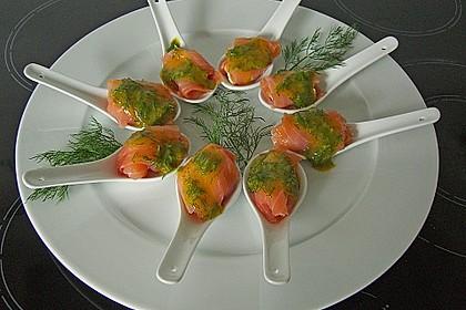 Lachspralinen mit Honig - Dill - Sauce 2