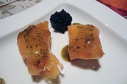 Lachspralinen mit Honig - Dill - Sauce 16