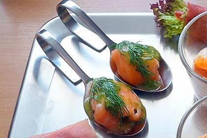 Lachspralinen mit Honig - Dill - Sauce 9