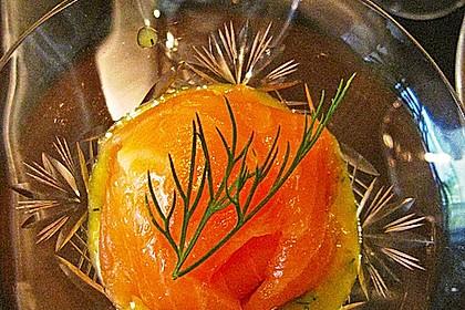 Lachspralinen mit Honig - Dill - Sauce 6