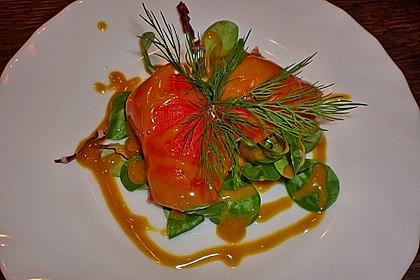 Lachspralinen mit Honig - Dill - Sauce 4