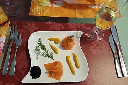 Lachspralinen mit Honig - Dill - Sauce 20