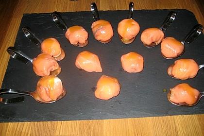 Lachspralinen mit Honig - Dill - Sauce 19
