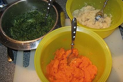 Dreifarbige Gemüsemousse 3