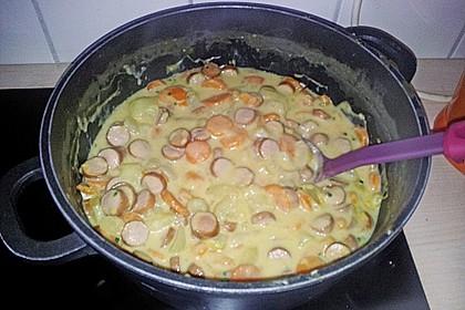Kartoffeln und Möhren mit Mettwurst 7