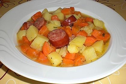 Kartoffeln und Möhren mit Mettwurst 1