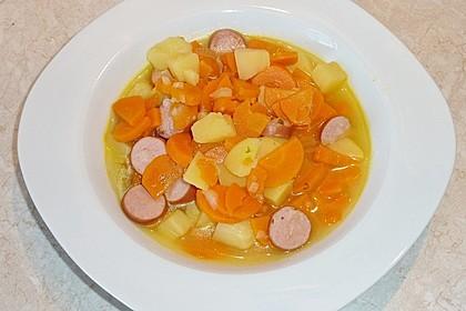 Kartoffeln und Möhren mit Mettwurst 2