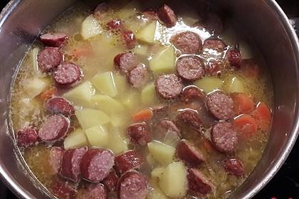 Kartoffeln und Möhren mit Mettwurst 10